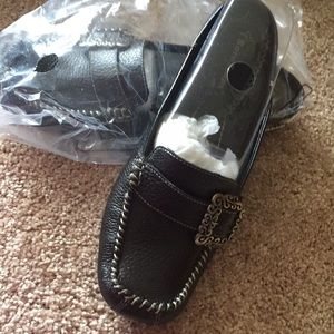 Black leather brand new